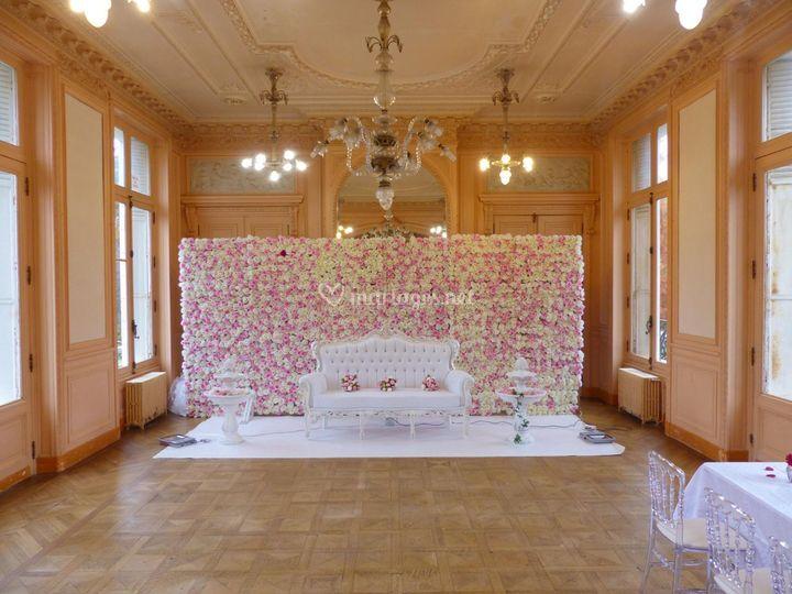 deco mur mariage finest tenture de salle de mtres with deco mur mariage faons duutiliser des. Black Bedroom Furniture Sets. Home Design Ideas