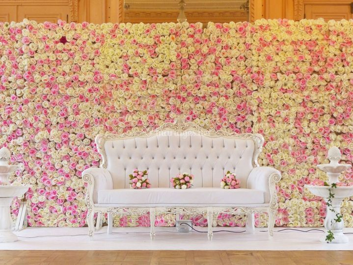 decoration mariage mur de fleur. Black Bedroom Furniture Sets. Home Design Ideas