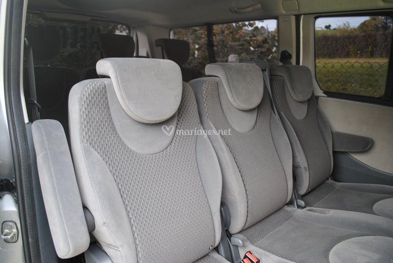 Intérieur 8 passagers