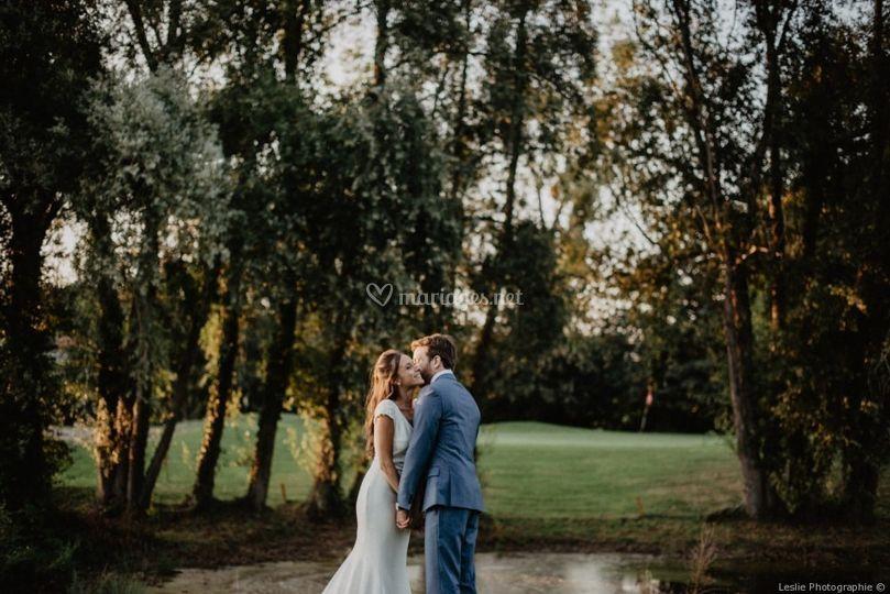Mariés vue sur Lac