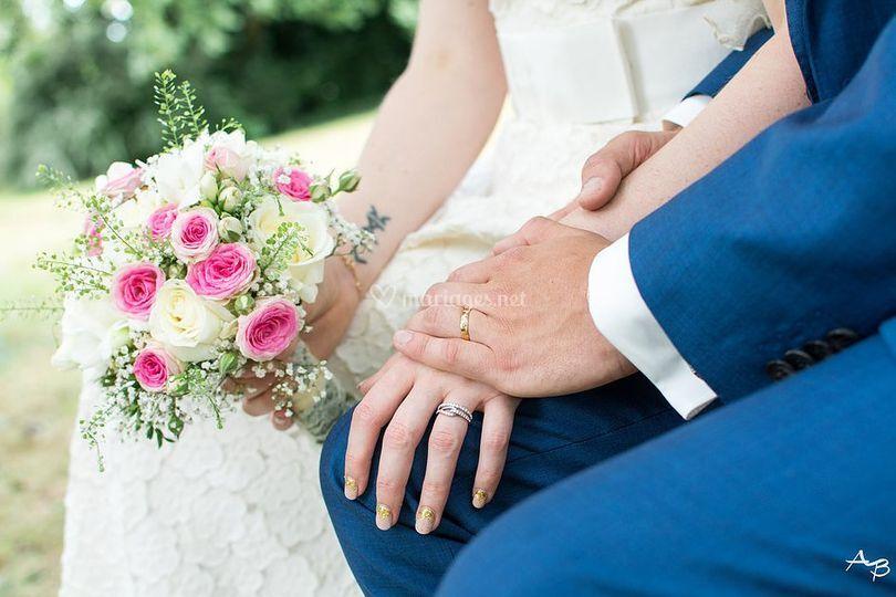 Couple de mariés Bretagne 2016