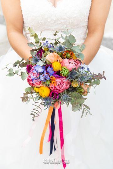 Un joli bouquet coloré