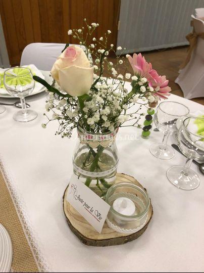 Centre de table + fleurs