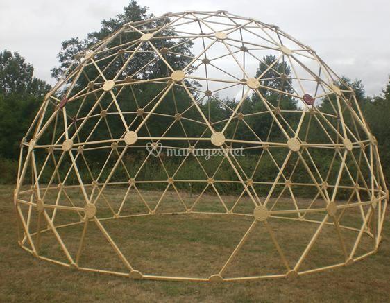 Modèle F4 en 5/8 de sphère / 30m² au sol
