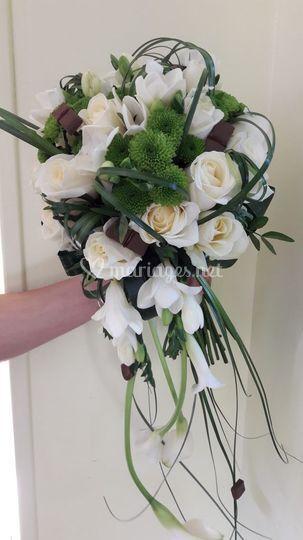 Bouquet de mariée petite chute