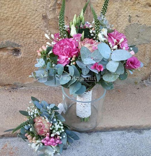 Bouquet mariée et fillette