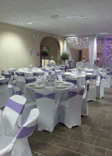 Tables déco violet