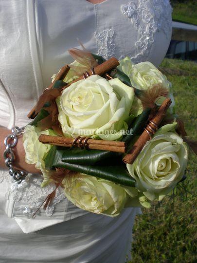 Bouquet rond raffiné