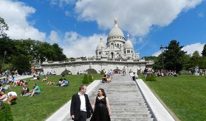 Séance d'engagement de Fanny et Jérémy à Montmartre