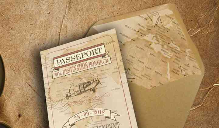 Faire-part voyage vintage