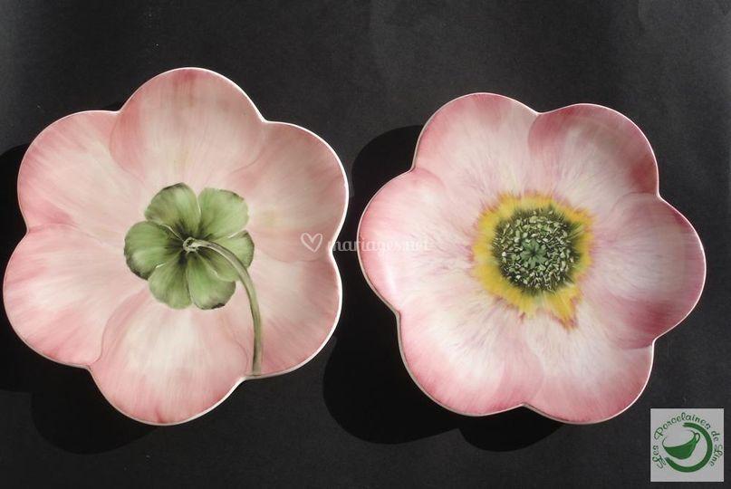Fleurs porcelaine