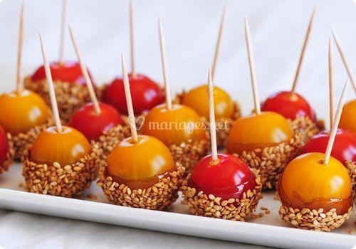 Tomates d'amour caramélisées
