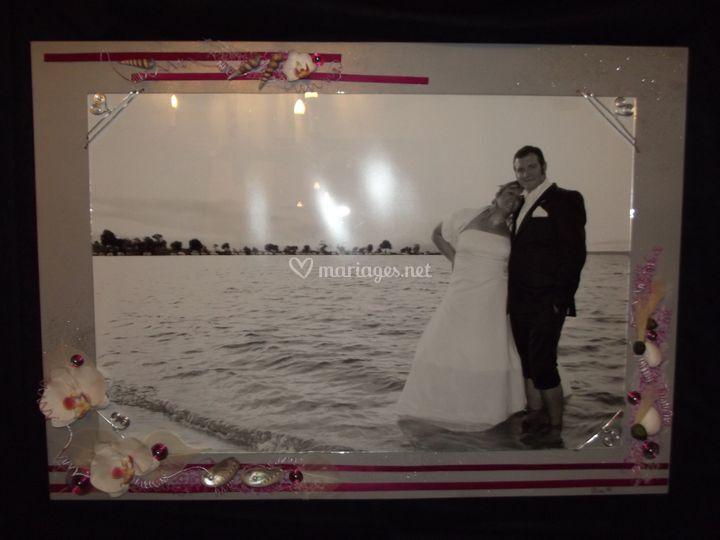 Cadre-photo souvenir mariage