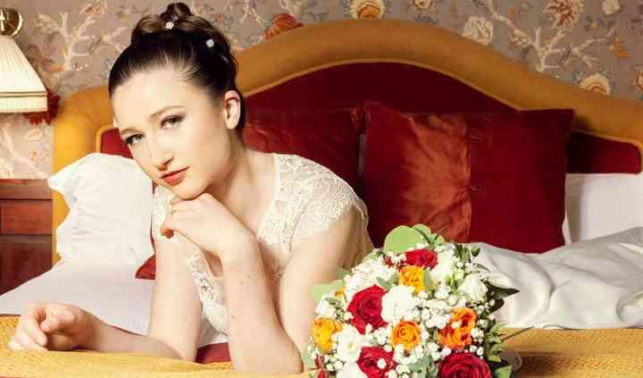Mariée au bouquet