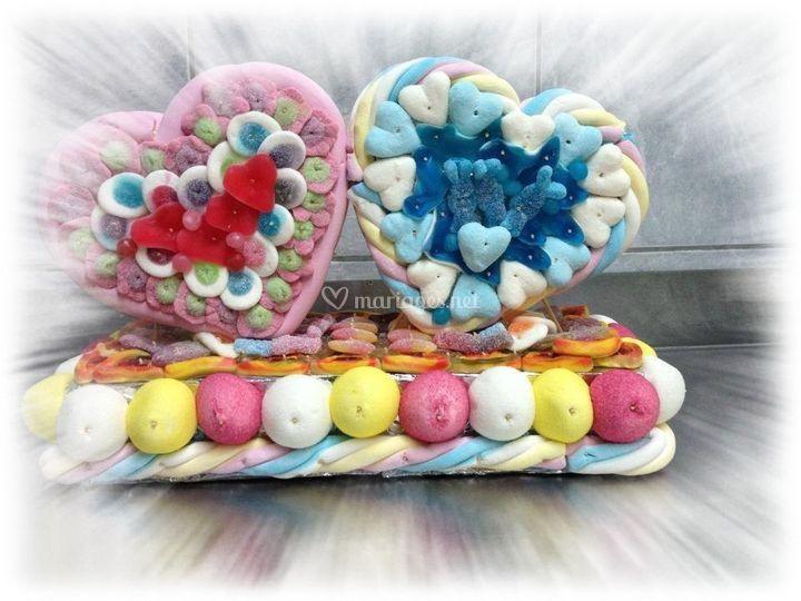 Coeurs en bonbons