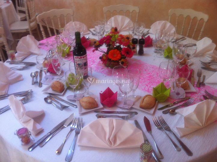 Table thème rose