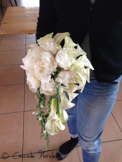 Bouquet arum pivoine