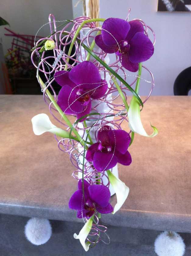 bouquet mariée de cascade florale | photo 7