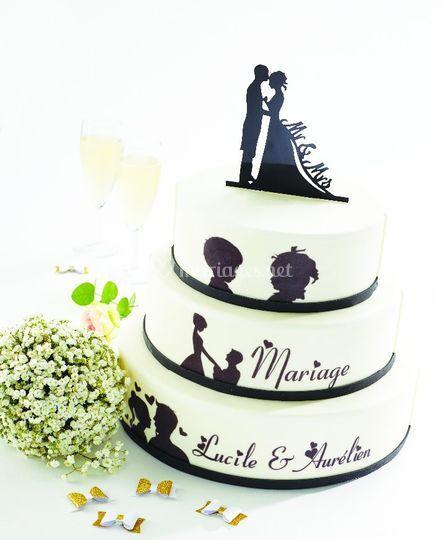 Gâteau de mariage personnalisé