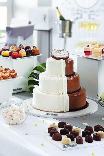 Gâteau mi femme mi homme perso