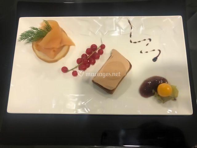 Foie gras saumon