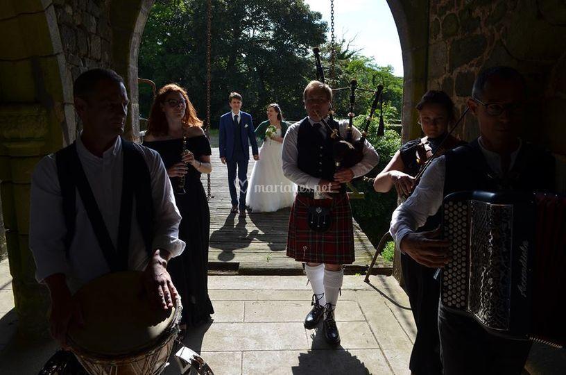 Mariage au château - entrée
