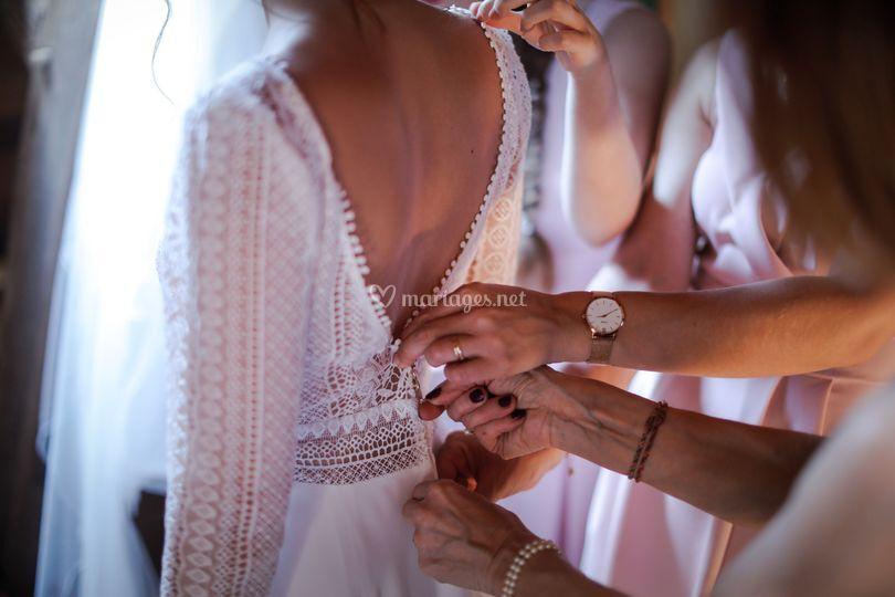 Mariage - robe - détails