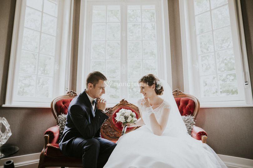 Photo de couple au chateau