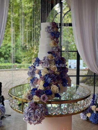 Table Wedding cake