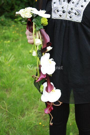 Bouquet de mariée Cala/orchidé