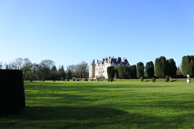 Les jardins et le château