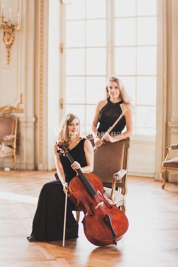 Musique classique duo flute