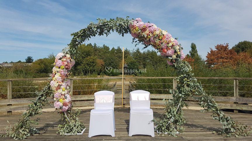 Mariage C&P - Arche cérémonie
