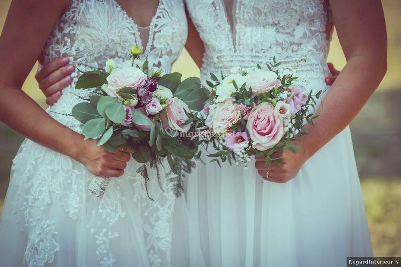 Bouquets des mariées.