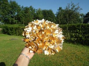 Tutoriel pour bouquet rond en fleur de papier crépon