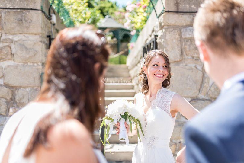Le sourire de la marié