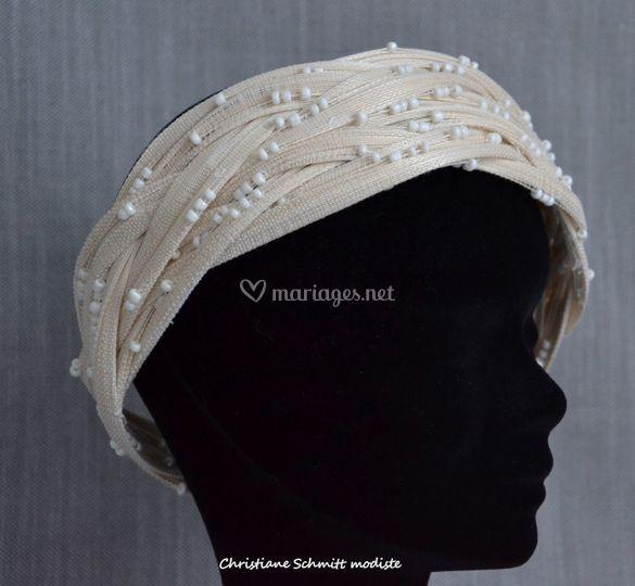 Bandeau de mariée perlé