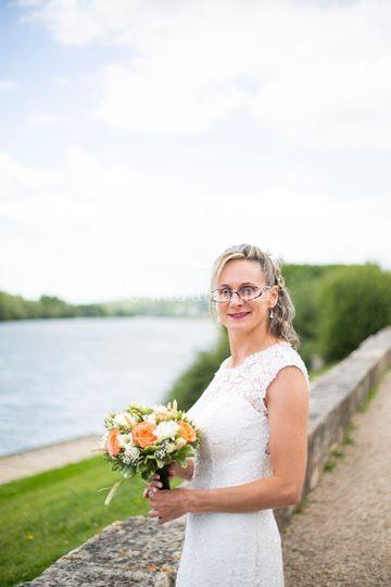 Portrait individuel mariée