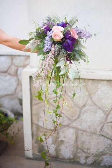 Bouquet de mariée jardin