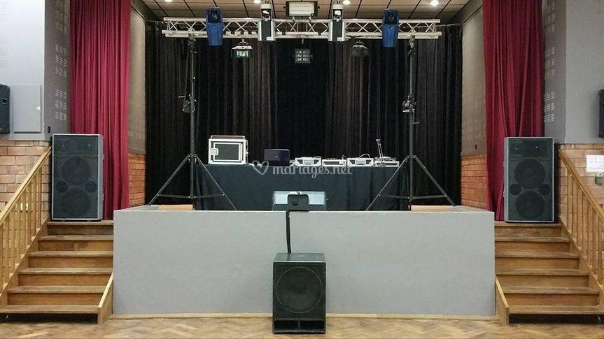 Installation sur podium