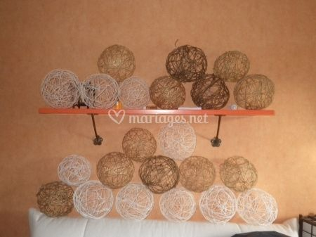 Tutoriel boules de fils pour suspension - Decoration a la main ...