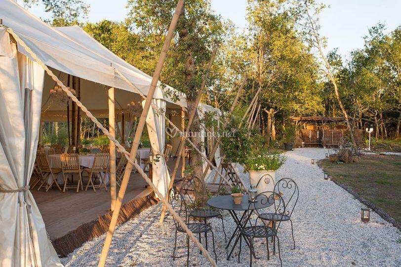 Tente bambou