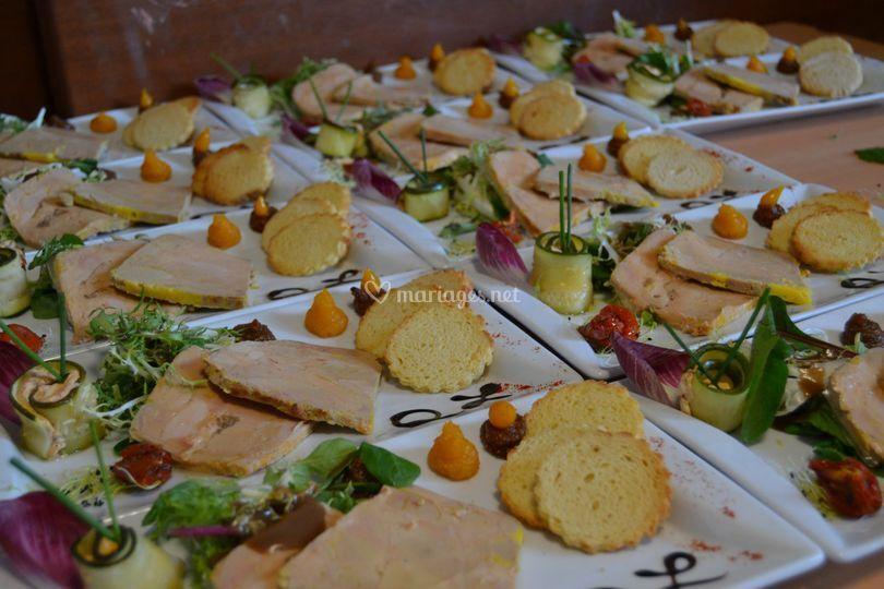Traiteur villette - Decoration assiette de foie gras photo ...
