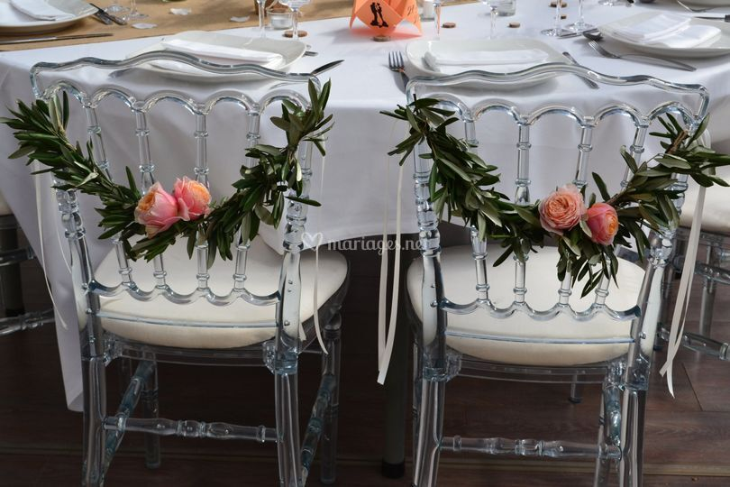 Chaises des mariées