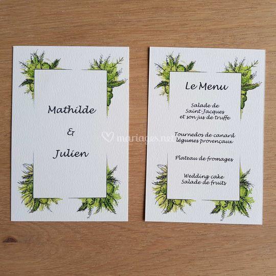 """Feuillages"" menu"