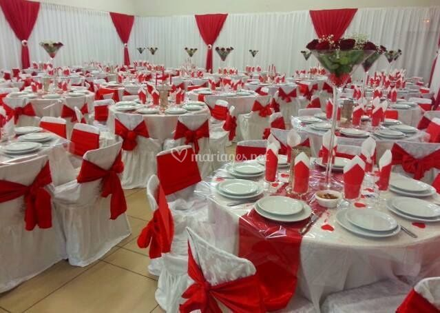 Diamond events - Decoration table mariage rouge et blanc ...
