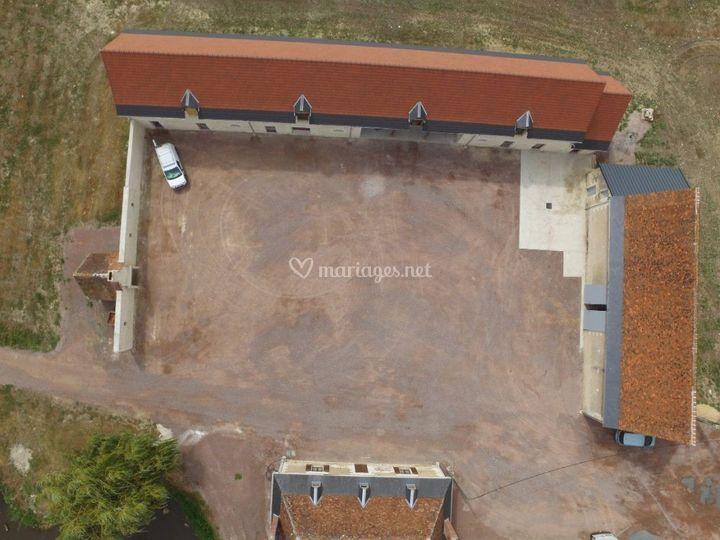 Vue aérienne du corps de ferme