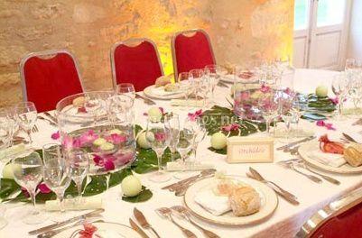 Une table décorée avec goût