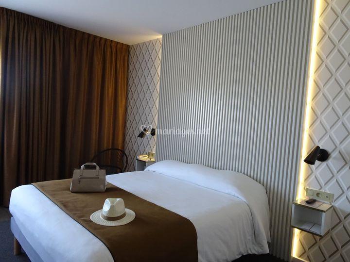 Les chambres de l'hôtel