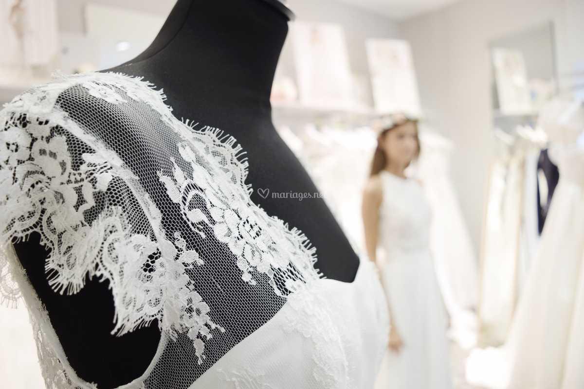 Robe De Mariée De Blanc Poudré Photo 8